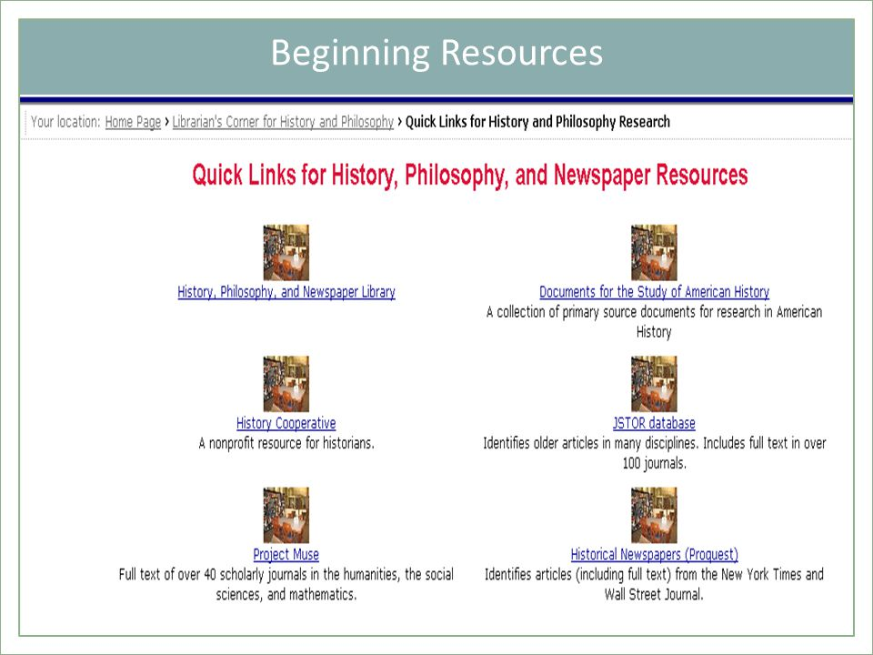 Beginning Resources