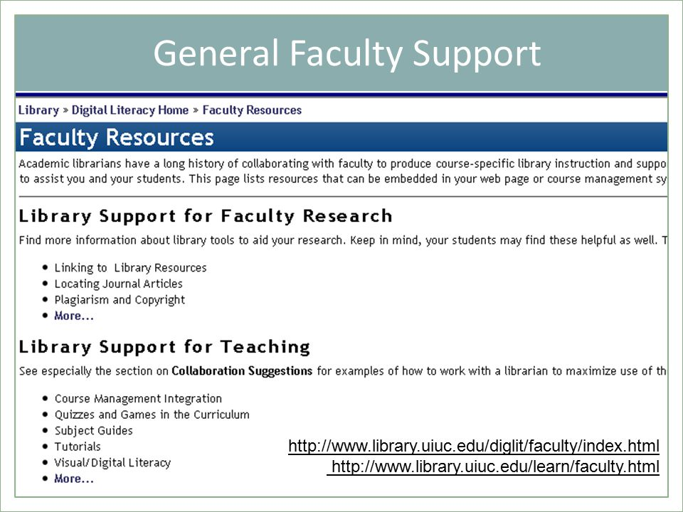 General Faculty Support