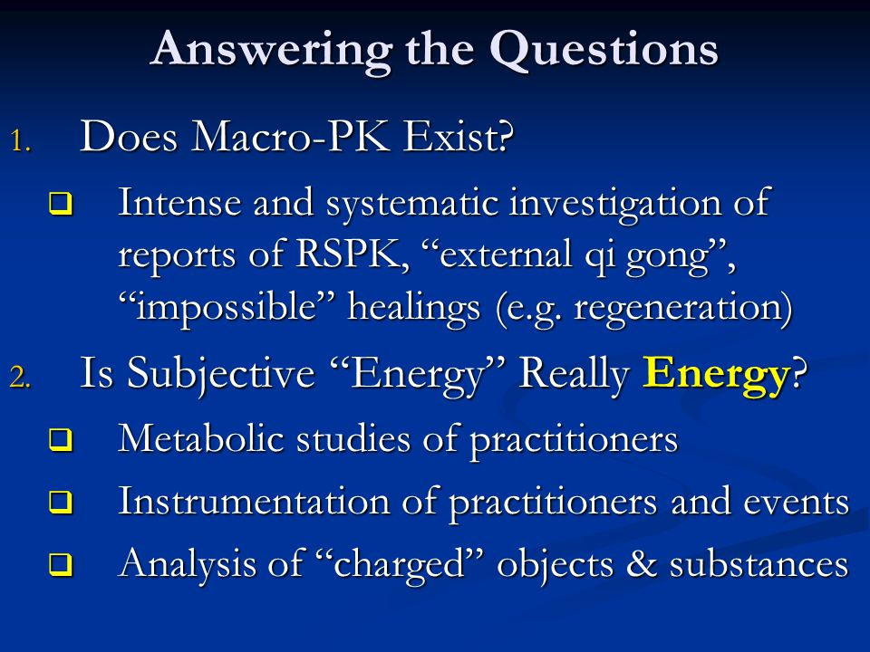 Answering the Questions 1. Does Macro-PK Exist.