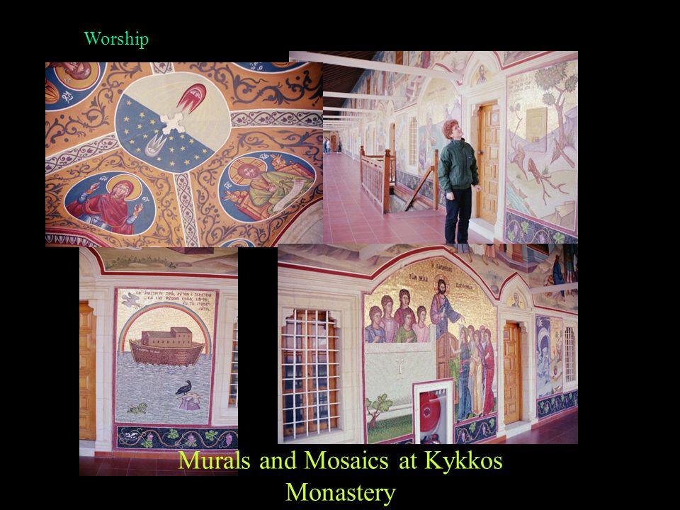 Worship Dome and Door Murals St. Elias Church, Protaras