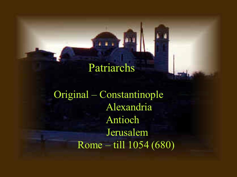 Eastern (Greek) Orthodoxy April 2003