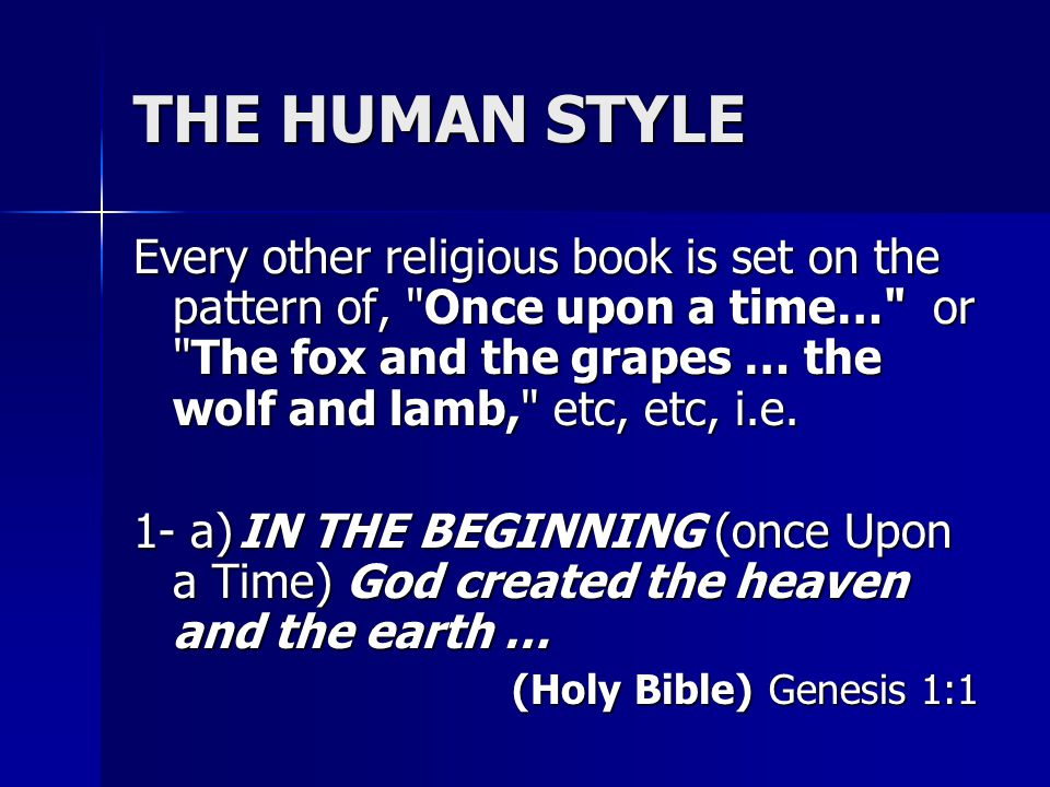 The first verse of the Bible speaks about the heaven and the earth in the singular.