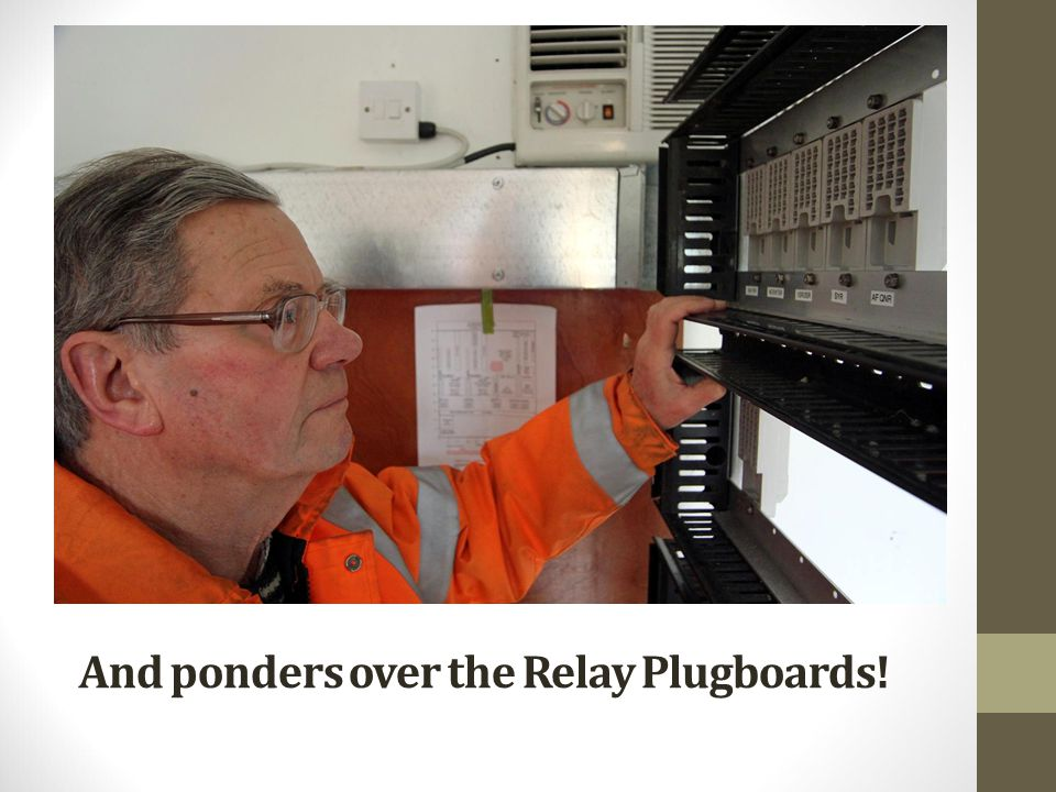 And ponders over the Relay Plugboards!