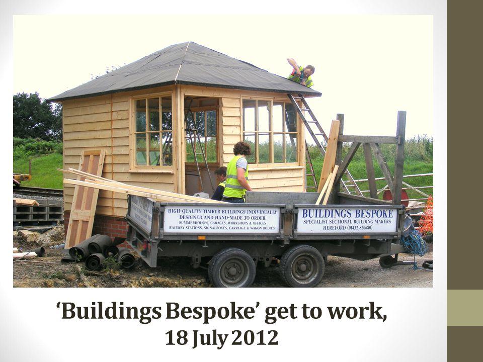 'Buildings Bespoke' get to work, 18 July 2012