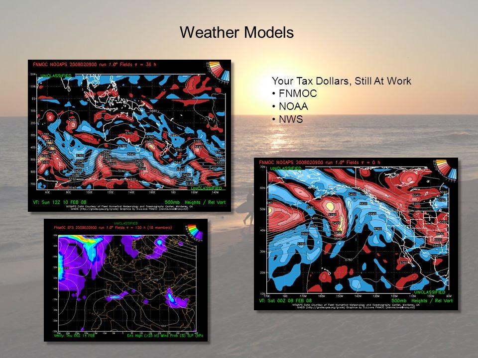 Weather Models Your Tax Dollars, Still At Work FNMOC FNMOC NOAA NOAA NWS NWS