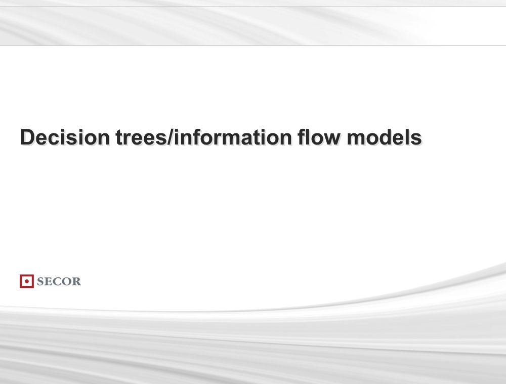 . 169. Decision trees/information flow models