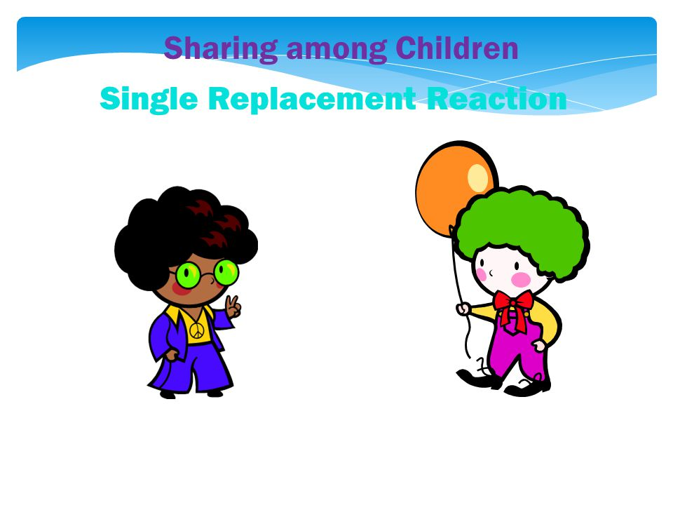 Sharing among Children Single Replacement Reaction