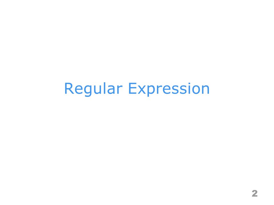 Regular Expression 2