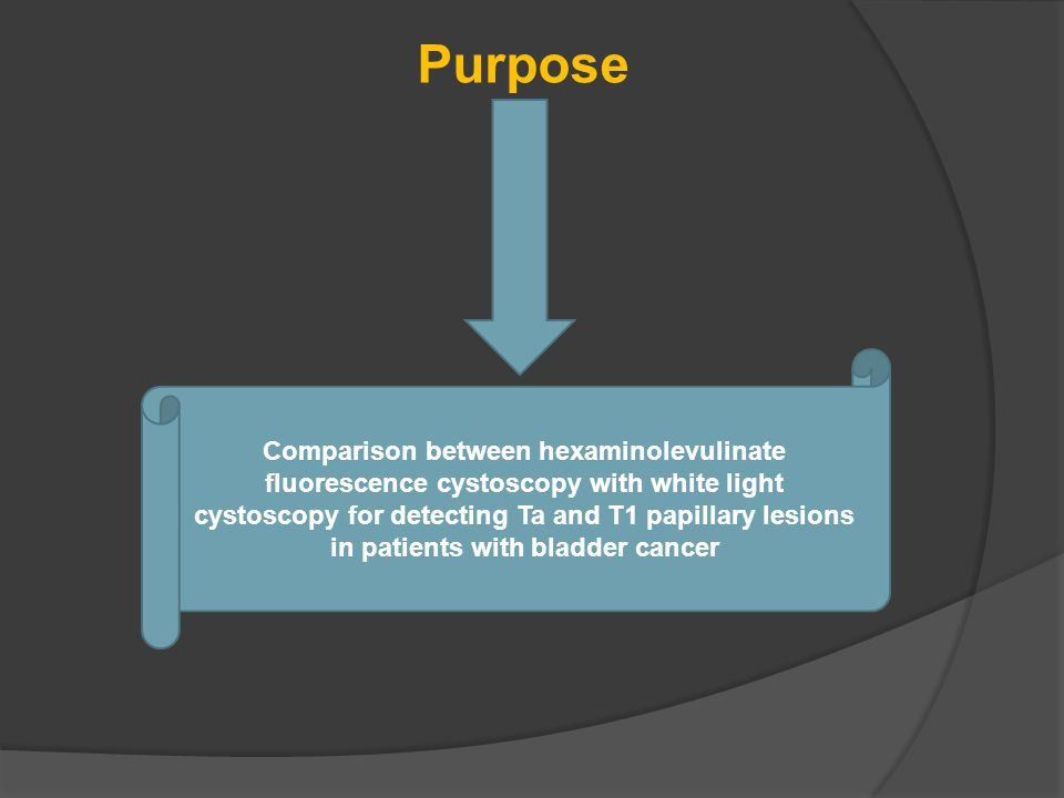Purpose Comparison between hexaminolevulinate fluorescence cystoscopy with white light cystoscopy for detecting Ta and T1 papillary lesions in patients with bladder cancer