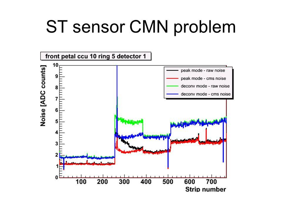 ST sensor CMN problem