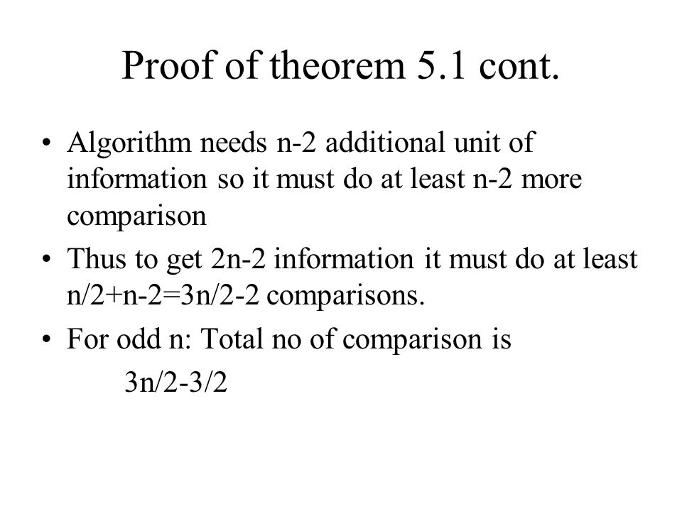 Proof of theorem 5.1 cont.