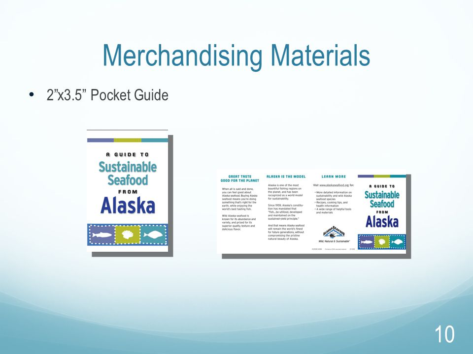 "Merchandising Materials 2""x3.5"" Pocket Guide 10"