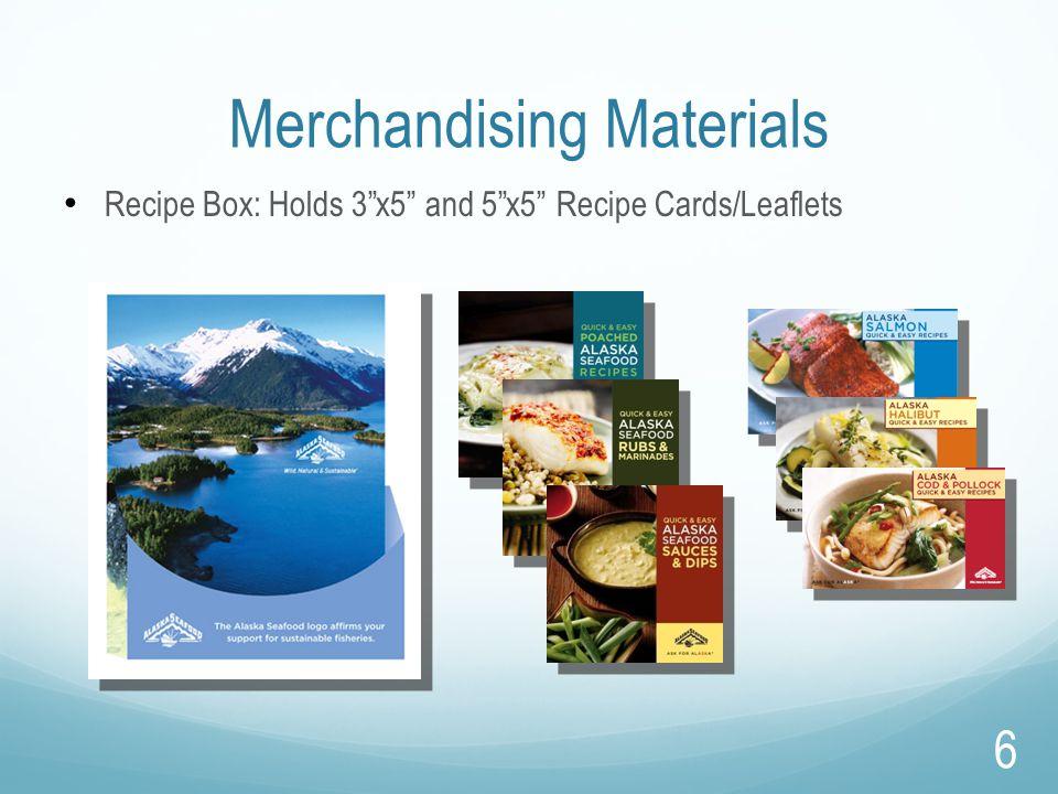 "Merchandising Materials Recipe Box: Holds 3""x5"" and 5""x5"" Recipe Cards/Leaflets 6"