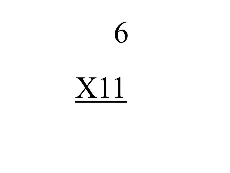 6 X11