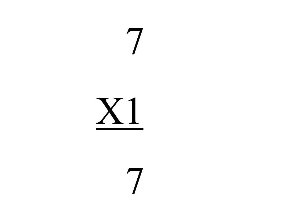 7 X1 7