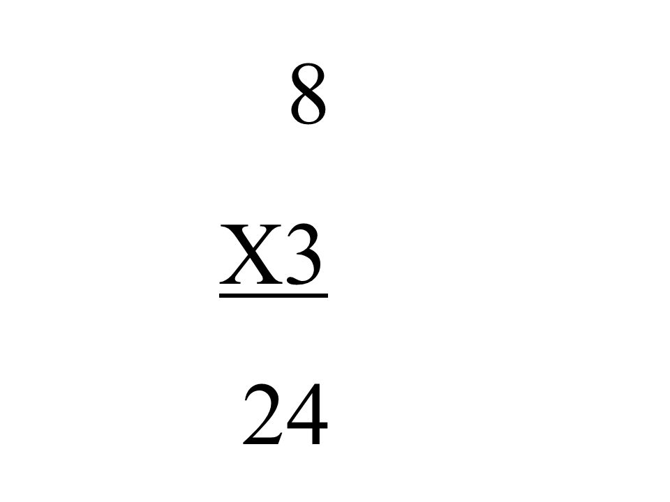 8 X3 24