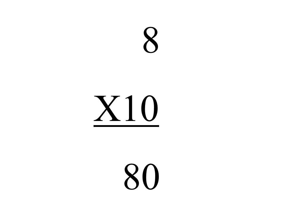 8 X10 80