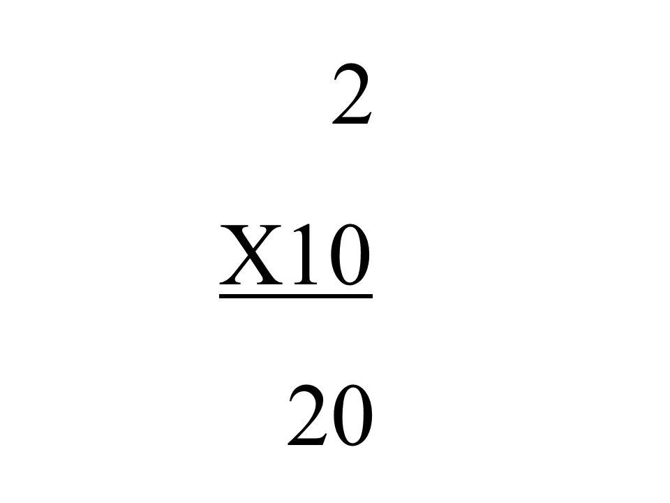 2 X10 20