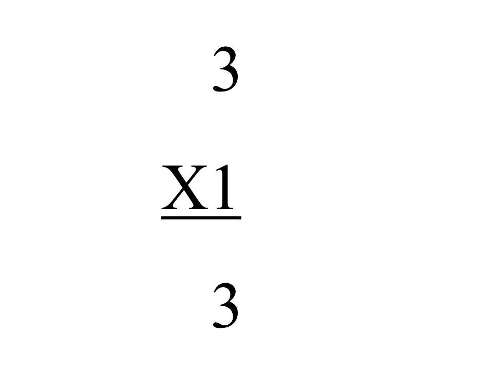 3 X1 3