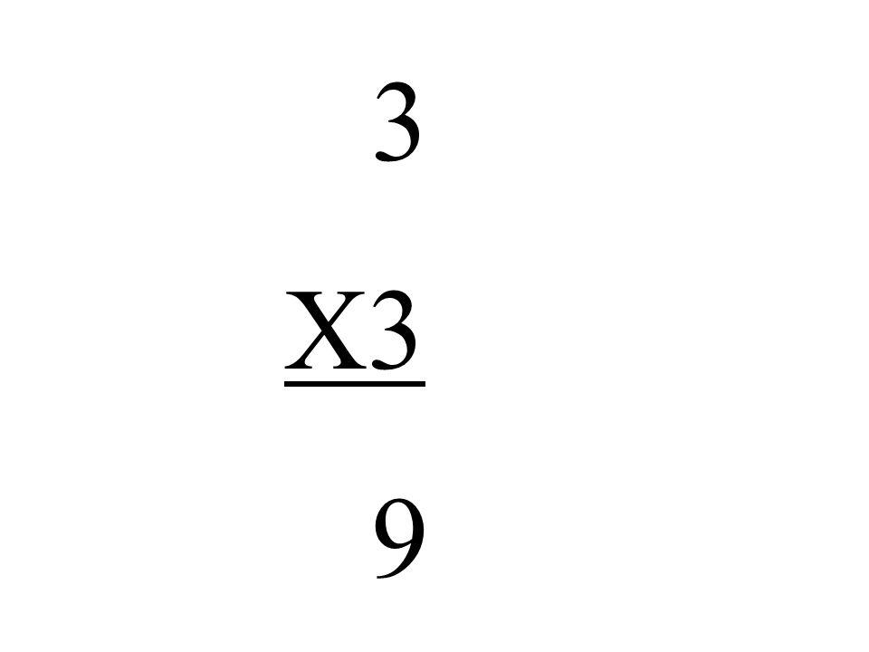3 X3 9