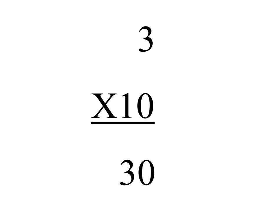 3 X10 30