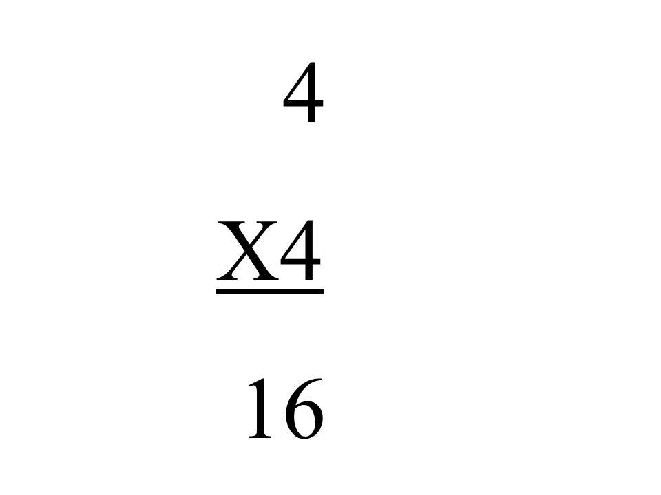 4 X4 16