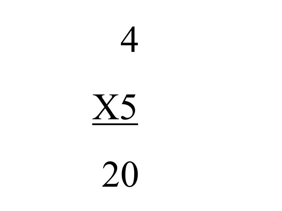 4 X5 20