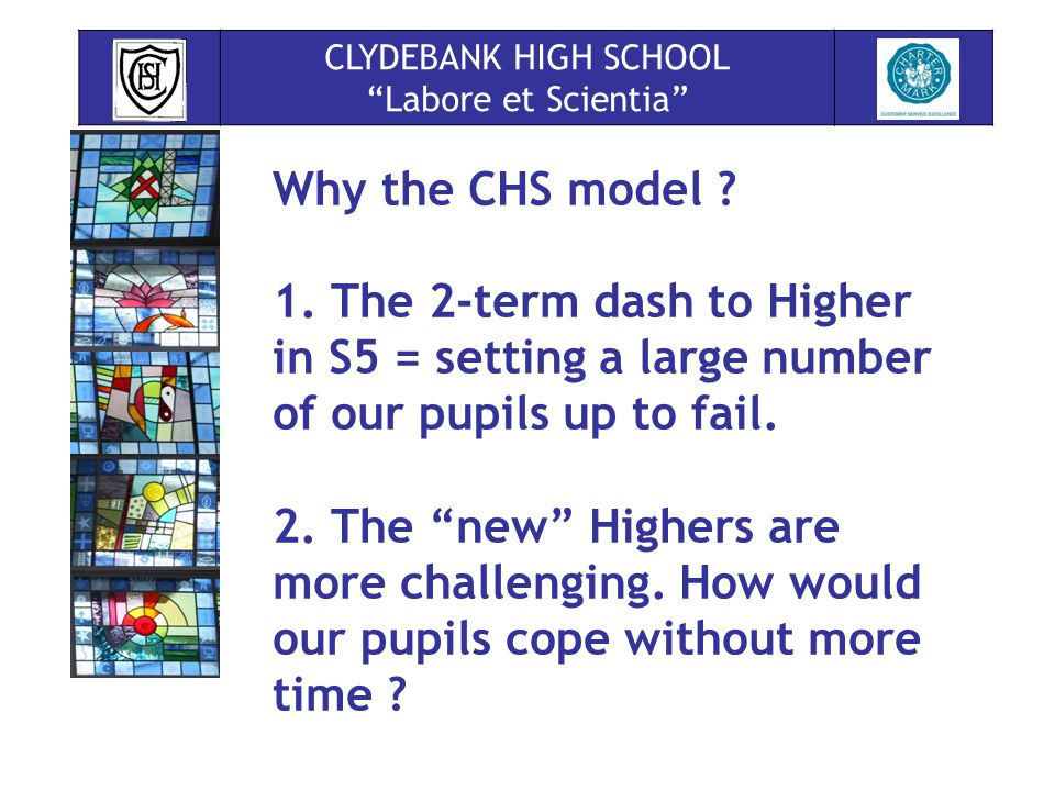 Why the CHS model . 1.