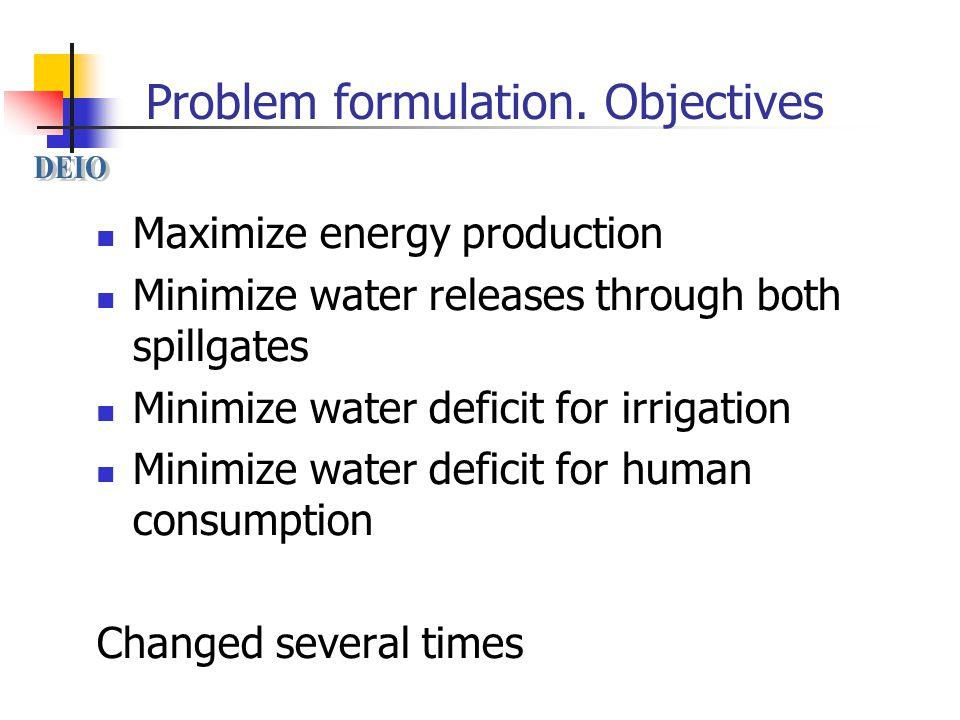 Problem formulation.