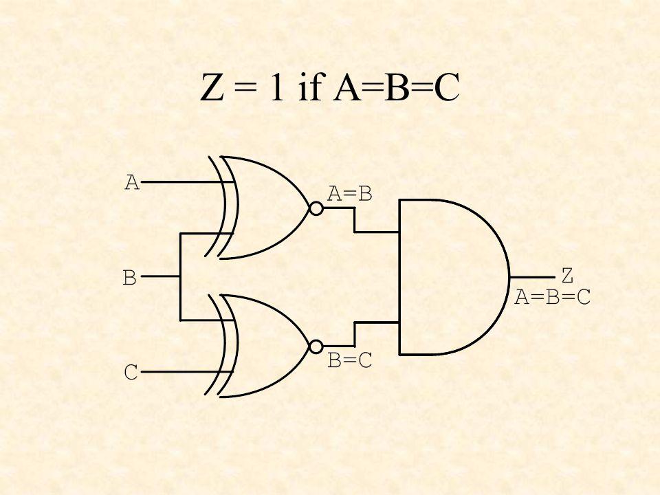 Multiplexers Y 4 x 1 MUX s0s1 C0 C1 C2 C3 Y s1s0 0 0 C0 0 1 C1 1 0 C2 1 1 C3