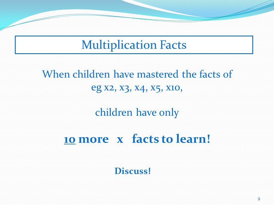 Multiplication Facts Using commutative property.