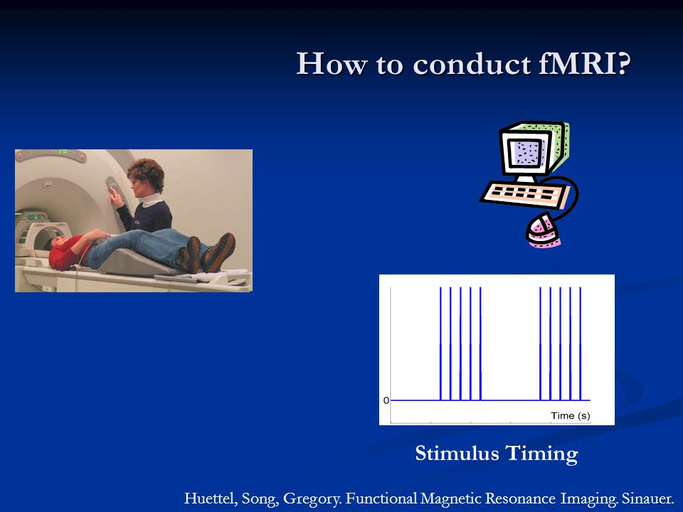 How to conduct fMRI.Huettel, Song, Gregory. Functional Magnetic Resonance Imaging.