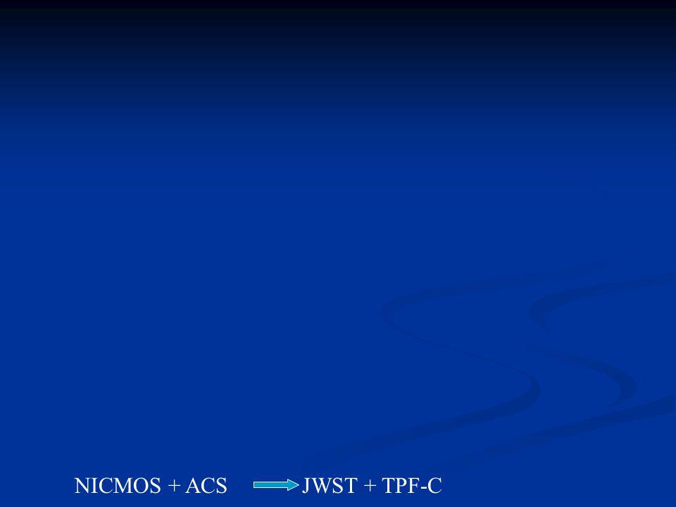 NICMOS + ACS JWST + TPF-C