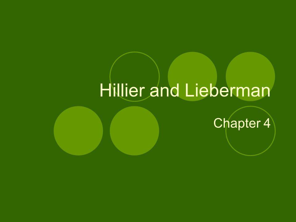Hillier and Lieberman Chapter 4