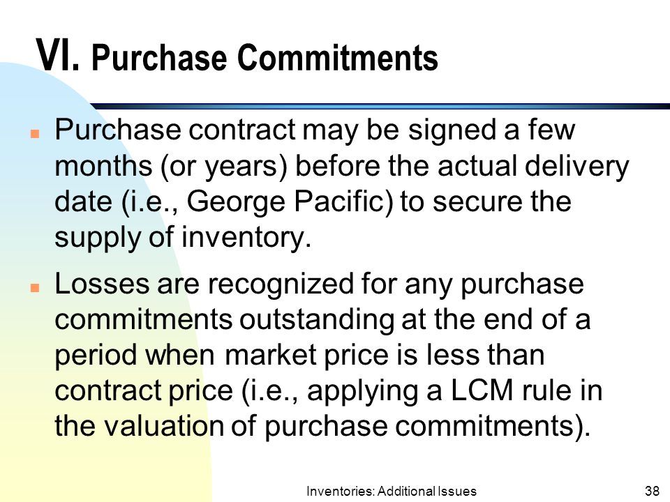 Inventories: Additional Issues37 Dollar-Value LIFO Retail Method Example (contd.) Ending Inv.Layers Price Cost End.