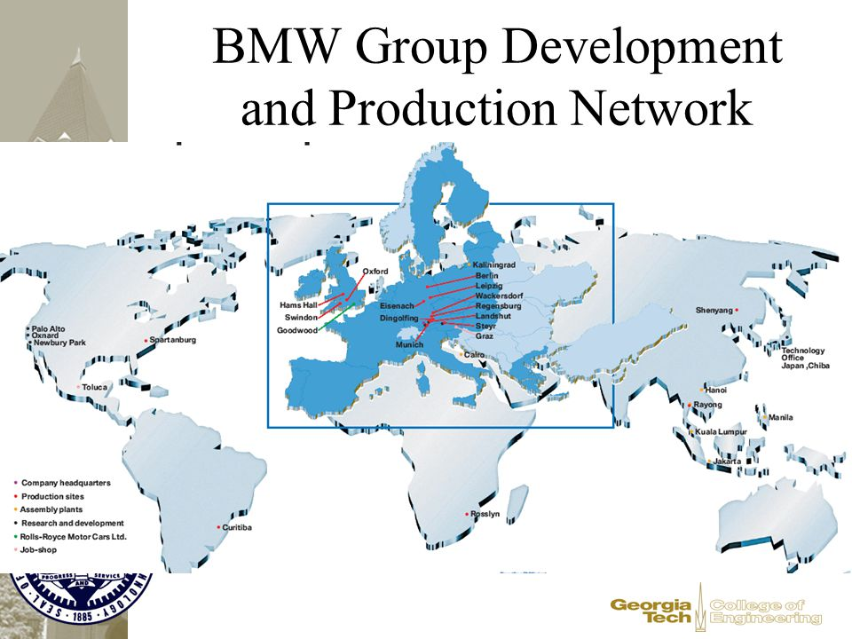 BMW Group Development and Production Network