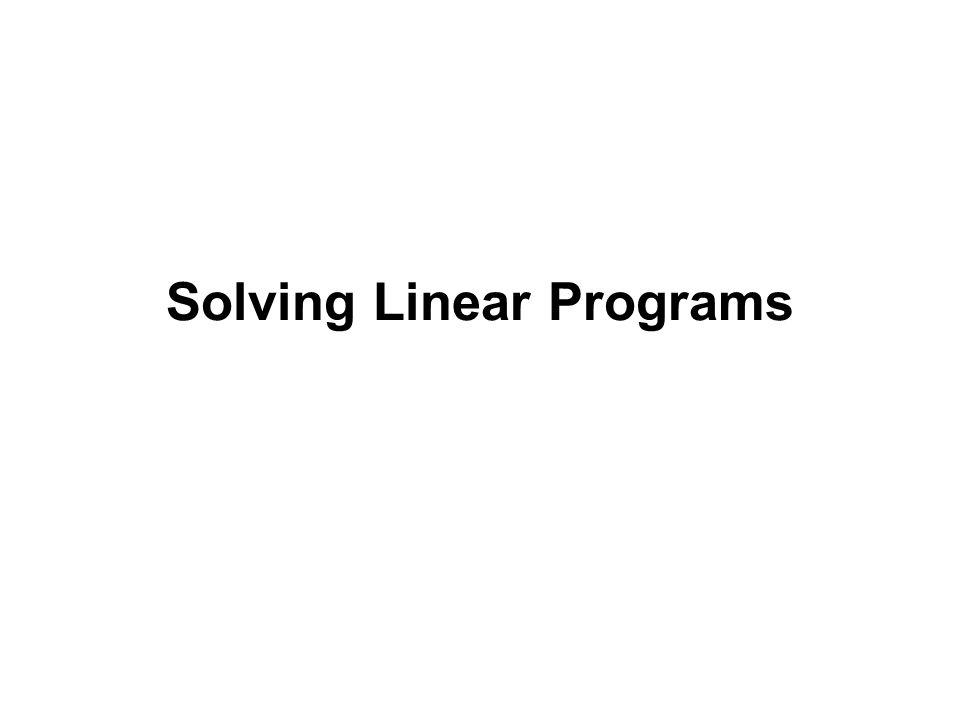 Solving Linear Programs