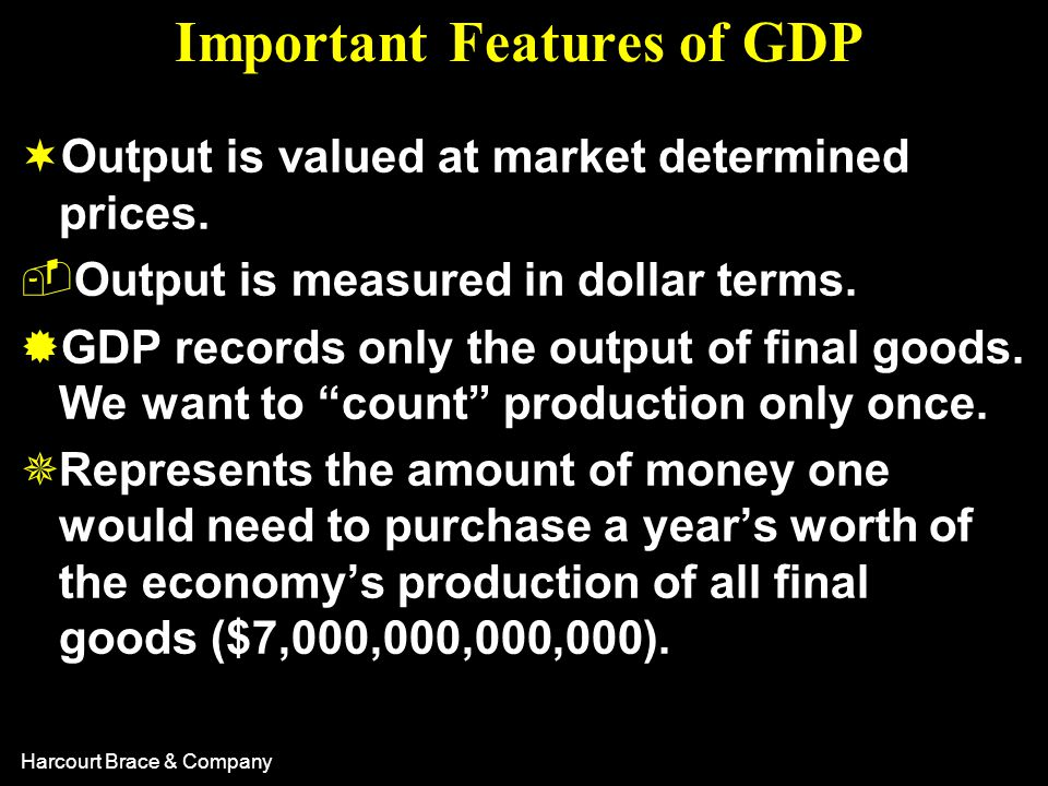 Harcourt Brace & Company What Is and What Is Not Counted in GDP.