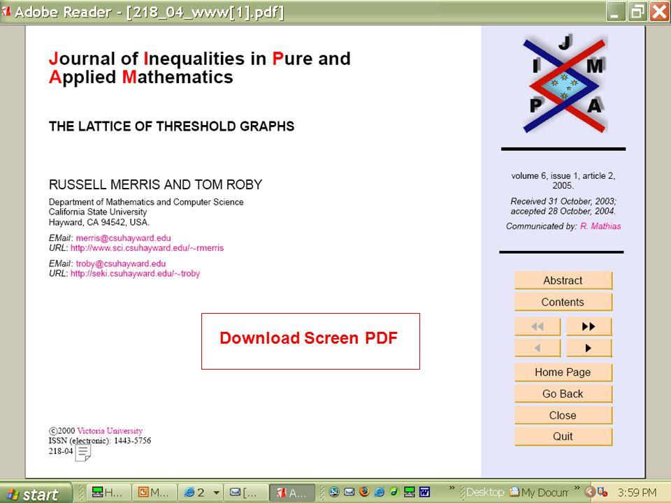 Download Screen PDF