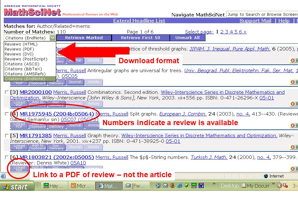 Download format Numbers indicate a review is available Link to a PDF of review – not the article