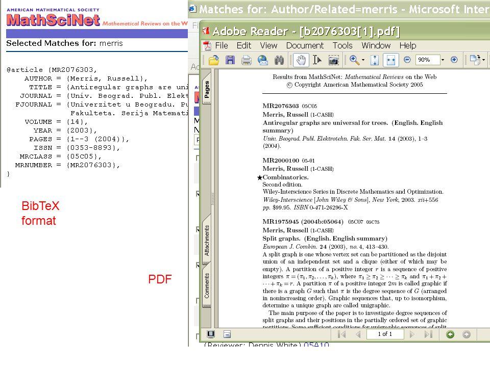 BibTeX format PDF