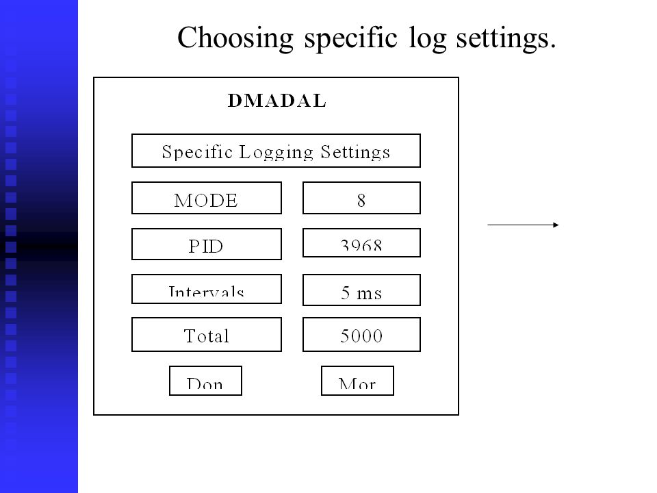 Choosing specific log settings.