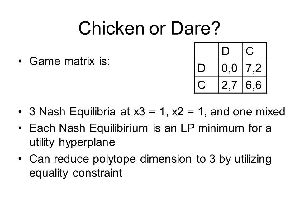 Chicken or Dare.