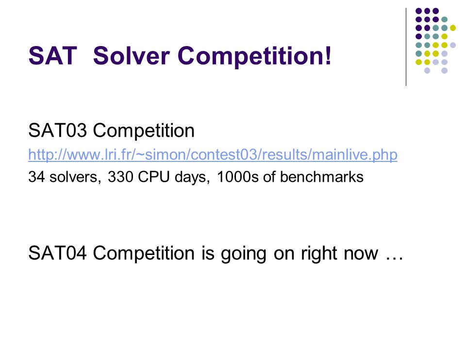 SAT Solver Competition.