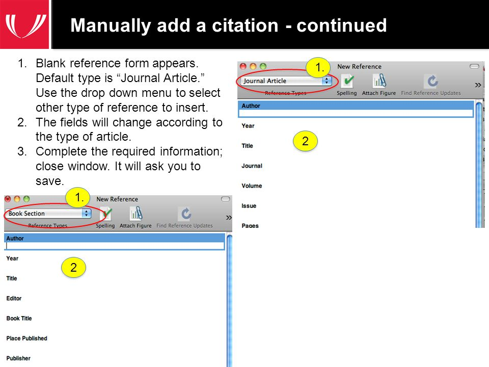 References: EndNote's on-line output styles http://www.endnote.com/support/enstyles.asp EndNote Training: http://endnote.com/training UNMC Research Users Group: http://www.unmc.edu/vcr/rug.htm