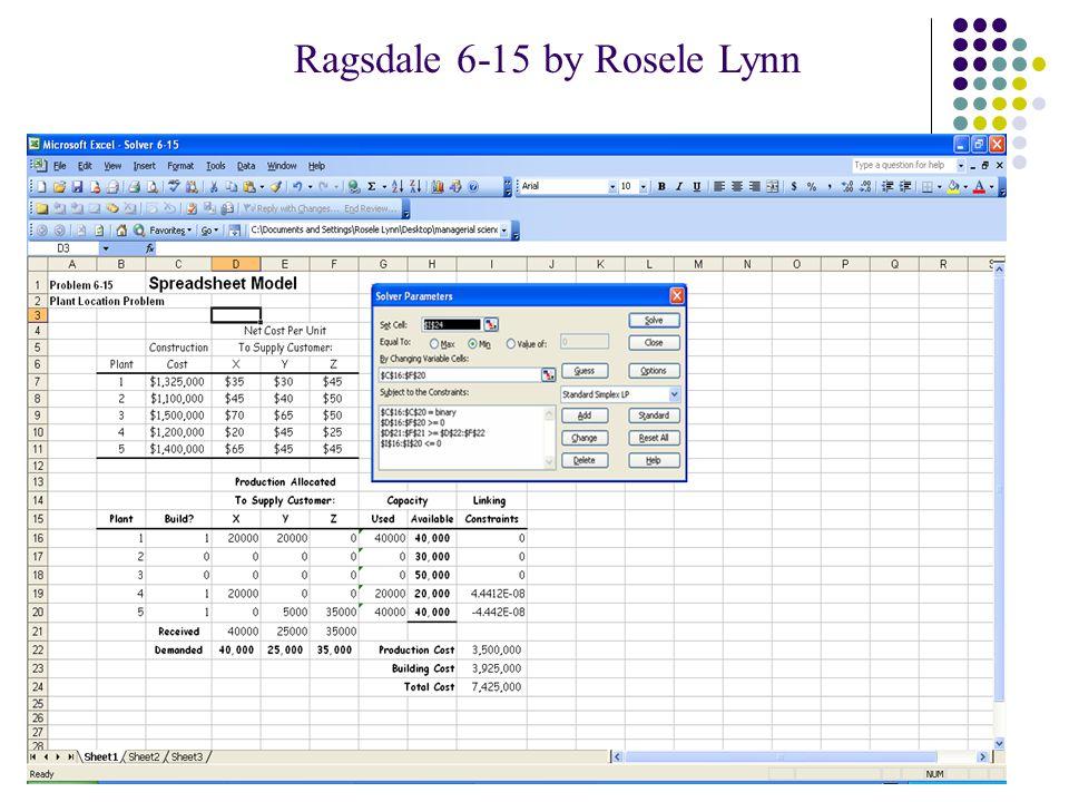 Ragsdale 6-15 by Rosele Lynn