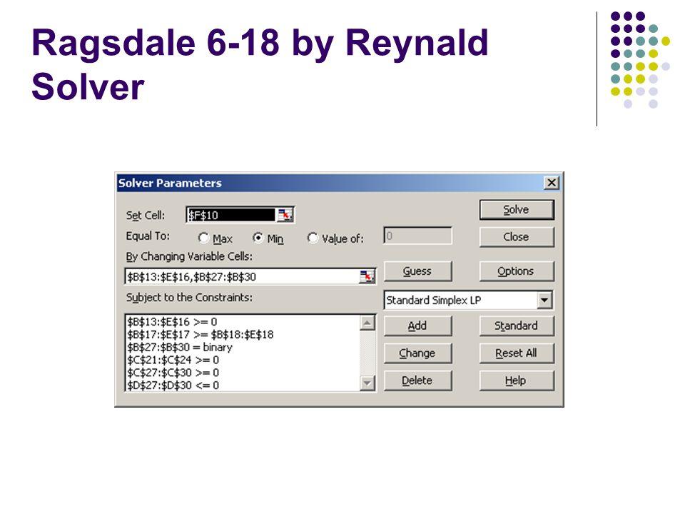 Ragsdale 6-18 by Reynald Solver