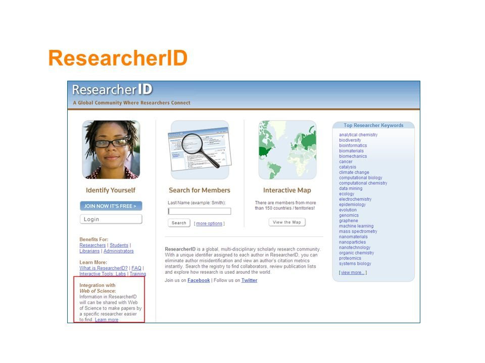 ResearcherID 25