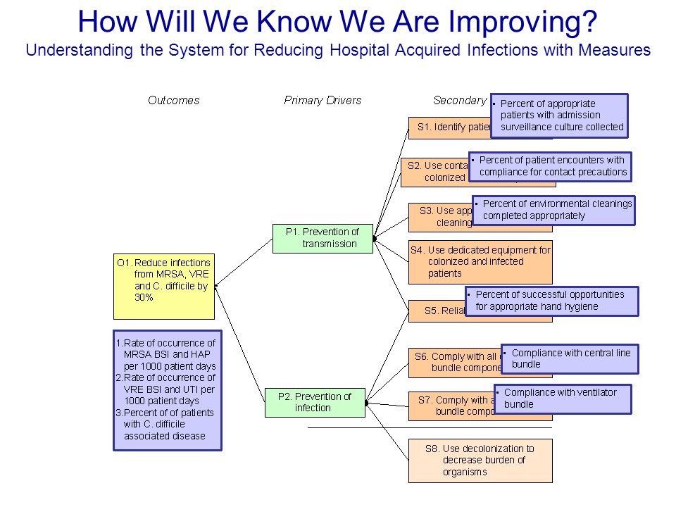 How Will We Know We Are Improving? Understanding the System for Reducing Hospital Acquired Infections with Measures