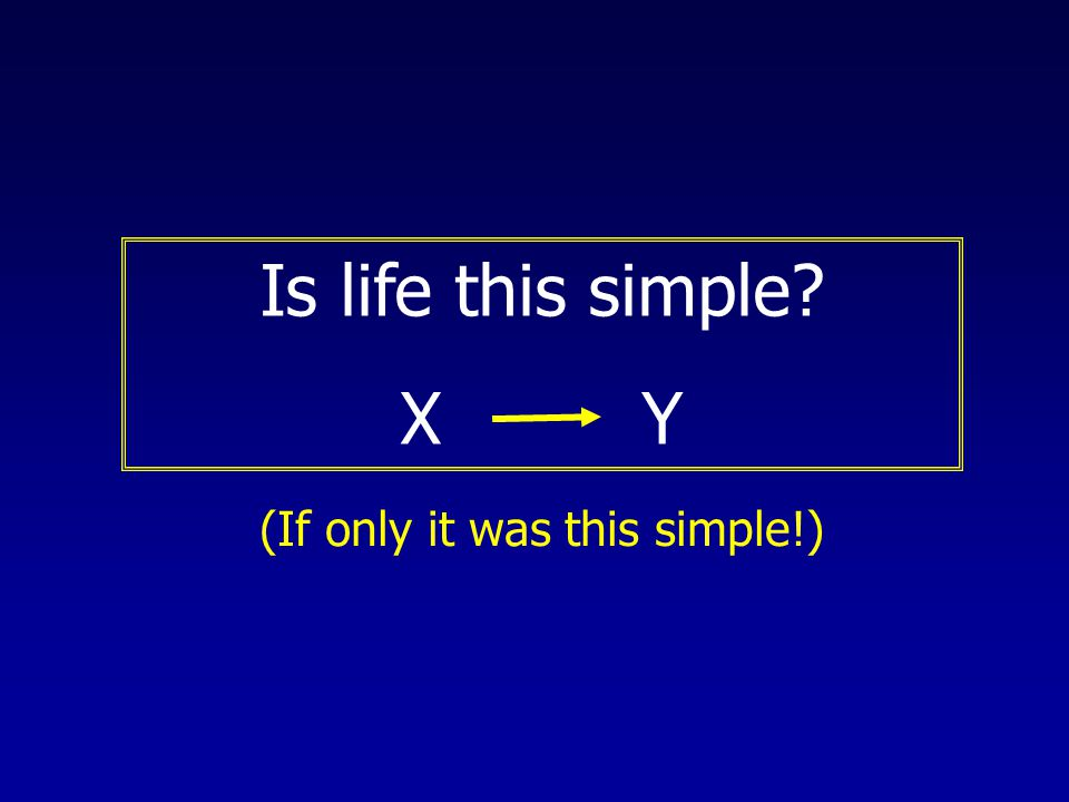 Is life this simple? X Y (If only it was this simple!)